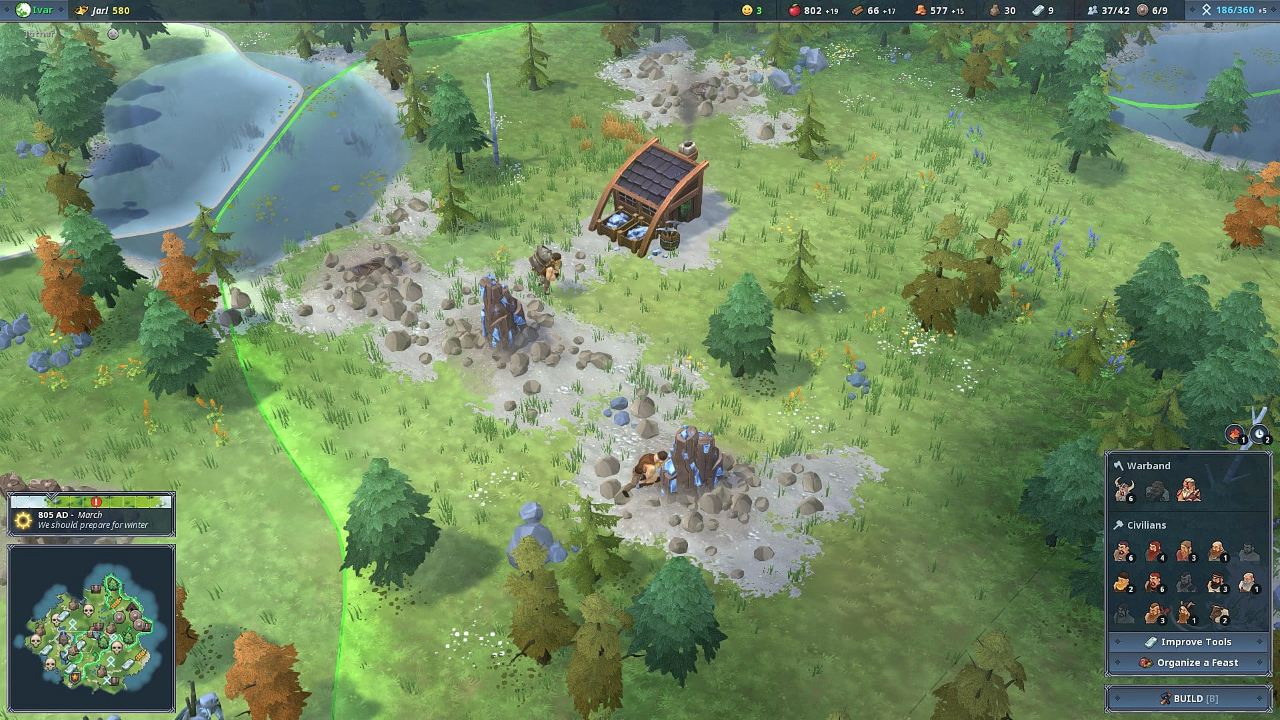 Northgard скриншоты