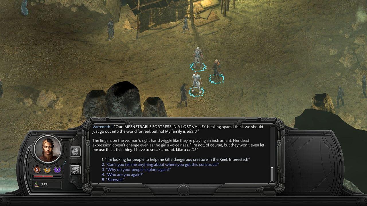 Tides of Numenera скриншоты