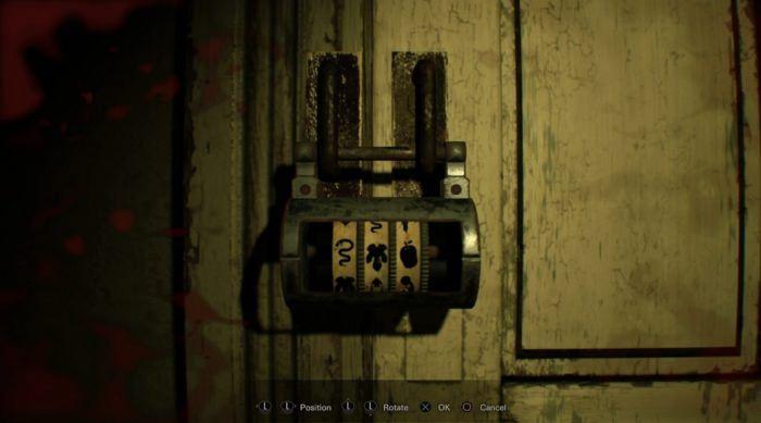 resident evil 7 дверной замок