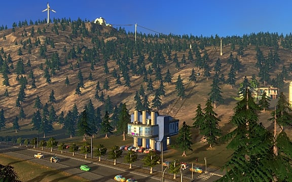 Cities: Skylines канатная дорога