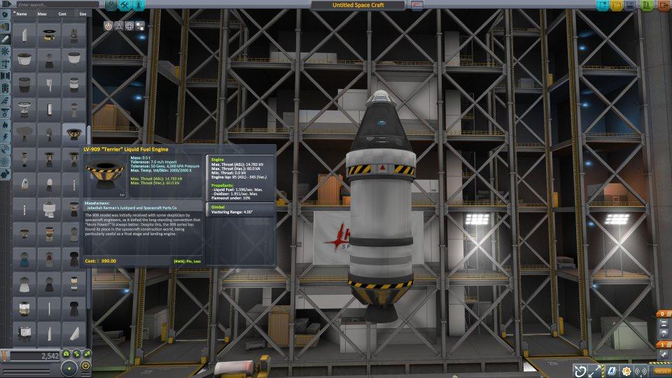 Kerbal Space Program строительство ракеты