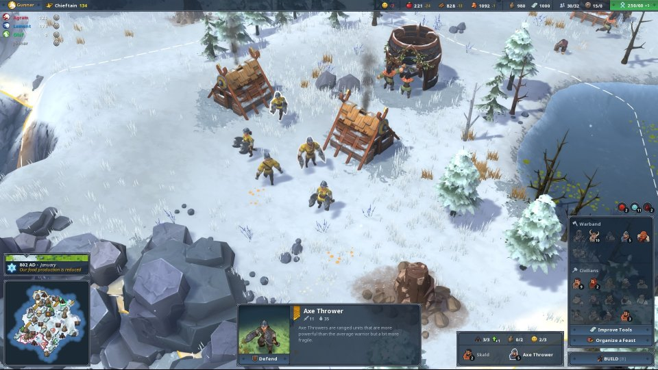 Northgard зима