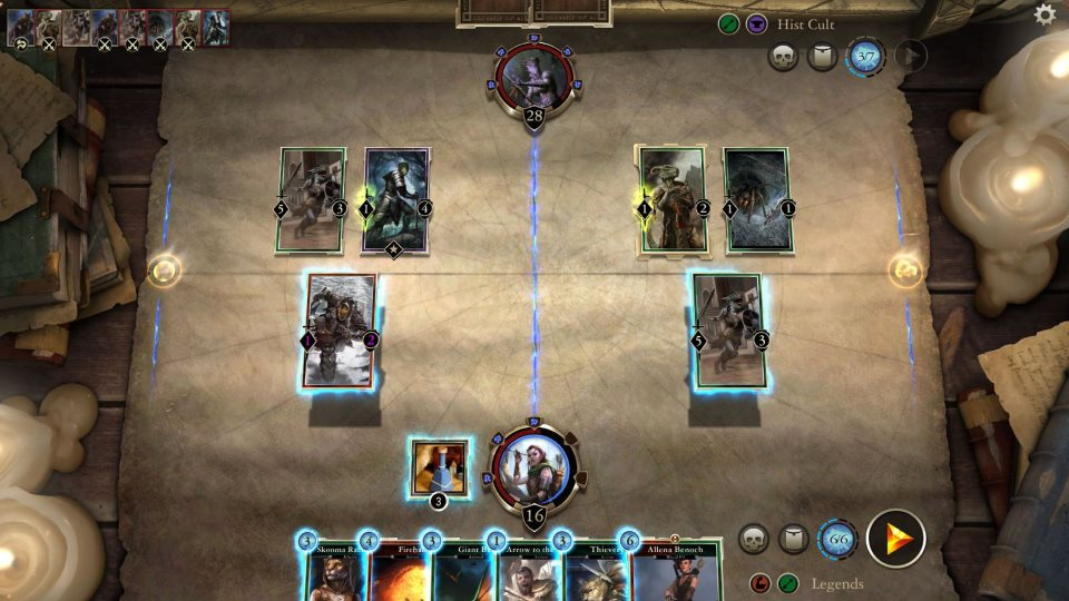 Elder Scrolls: Legends Heroes of Skyrim подсказки