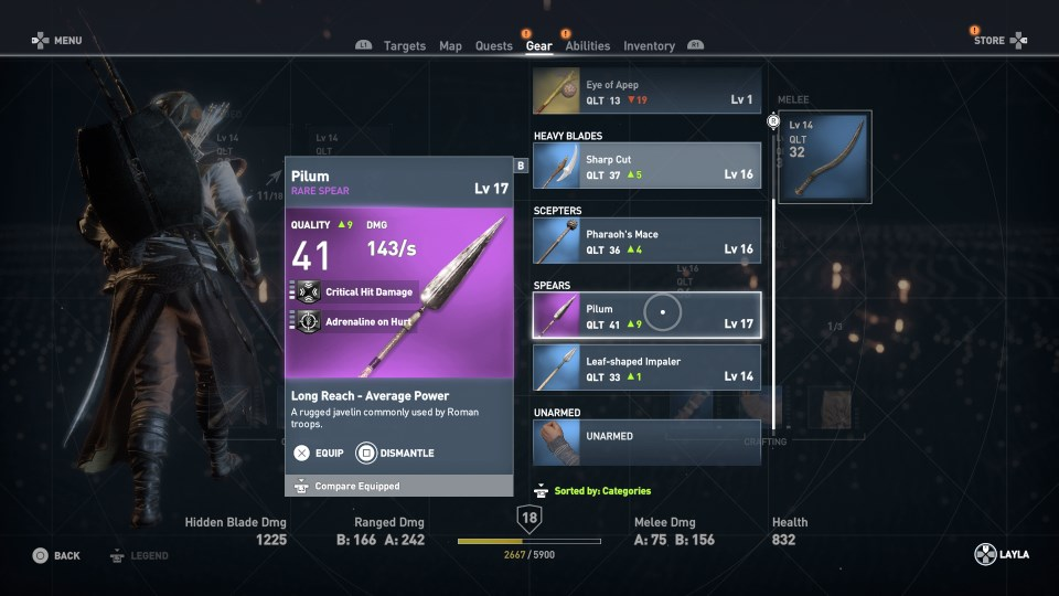 Assassin's Creed Origins оружие