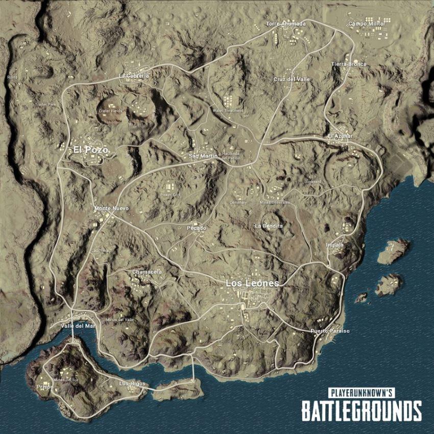 Player Unknown's Battlegrounds – все ключевые местоположения на карте Мирамар