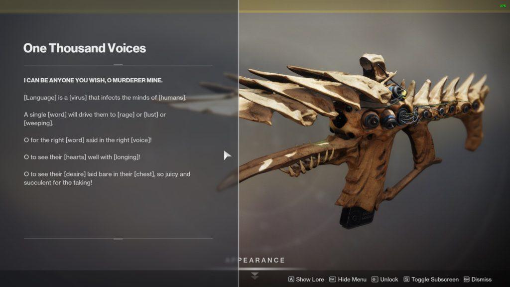 Экзотическая винтовка Fusion- тысячу голосов - Судьба 2